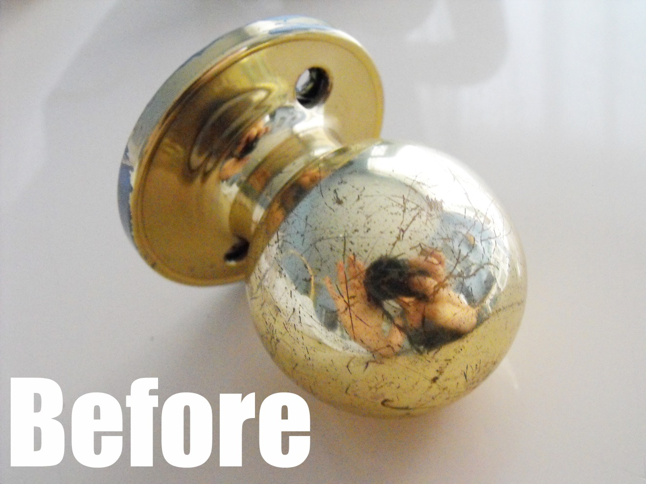 yes you can spray paint door knobs and they will look 1000 better. Black Bedroom Furniture Sets. Home Design Ideas