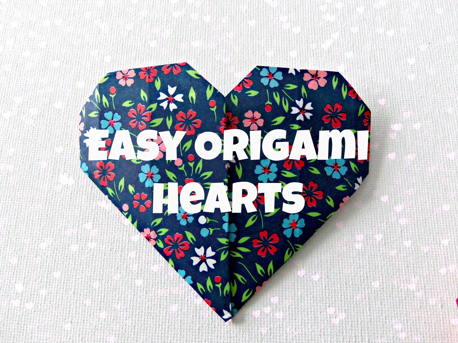 Easy Origami Hearts - photo#19