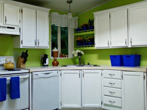 Home Tour: My Bright Lime Kitchen